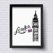 London and Big Ben — Stock Vector