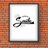 You Make Me Smile Concept on a Frame — Stock Vector