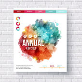 Abstract design on an annual report template — Stock Vector