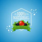 Cent pour cent naturel produit biologique — Vecteur
