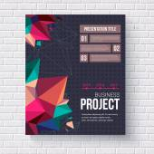 Geometric design template for a business project — Stock Vector