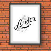 Simple London Message on a White Picture Frame — Stock Vector