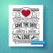 Retro stylish Save The Date wedding template — Stock Vector #69124207