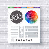 Artistic design template for a Business Project — Stock Vector