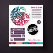 Business Project template in retro colors — Stock Vector
