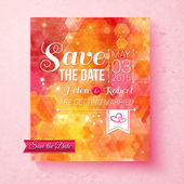 Colorful vibrant Save The Date wedding invitation — Stock Vector