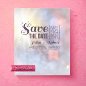 Soft spiritual Save The Date wedding template — Stock Vector