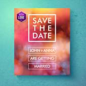 Bold simple Save The Date template design — Stock Vector