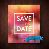 Eyecatching bold simple Save The Date template — Stock Vector