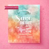 Elegant Save The Date wedding template — Stock Vector