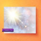 Pretty summer card deisgn with ethereal sunburst — Stock Vector