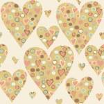Cartoon hearts seamless pattern. — Stock Vector #52755901