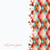 Abstract card. Retro geometric seamless pattern. — Stock Vector