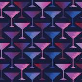 Cocktail seamless pattern — Stock Vector