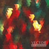Geometric background. Multicolored triangles — Vecteur