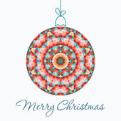 Merry Christmas Greeting Card with snowball made of triangles . — Stockvektor