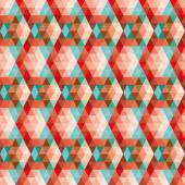 Abstract card. Retro geometric seamless pattern. — Vecteur