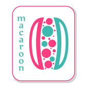Bunte französische macaroon-symbol — Stockvektor