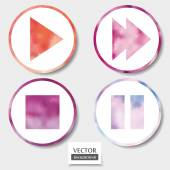 Set of four media icons — Stock Vector