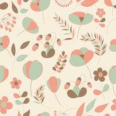 Padrão sem emenda floral abstrato — Vetorial Stock