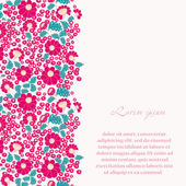 Vintage romantic background with flowers. — Stock Vector