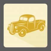 Retro car icon — Stock Vector