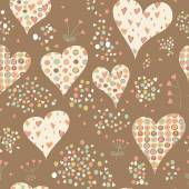 Cartoon hearts seamless pattern. — Stock Vector