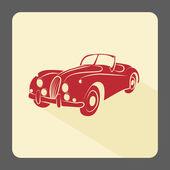 Ikona retro samochodów — Wektor stockowy