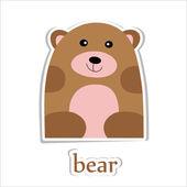孤立的白色衬底上的卡通熊. — 图库矢量图片