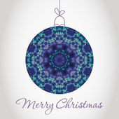 Feliz Natal cartão com bola de neve feita de triângulos — Vetor de Stock