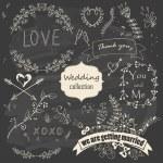 Wedding romantic collection — Stock Vector #57829123