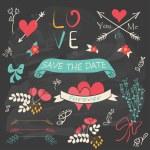 colección romántica boda — Vector de stock  #57829169