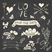 ρομαντική συλλογή γάμου — Διανυσματικό Αρχείο