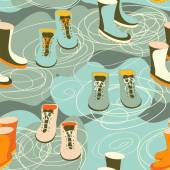 Rain boots — Stock Vector