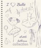 Hand drawn ballerina — Vettoriale Stock