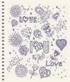 Love lettering. — Stock Vector
