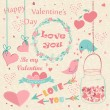 Happy Valentine's Day hand drawn card. — Stock Vector #59900919