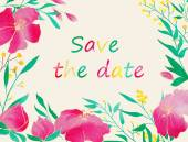 Save the date card. — Stock Vector