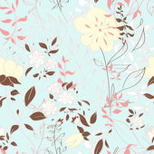 Seamless pattern with floral elements. — Stock Vector