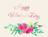 Happy Valentine's Day card. — Stock Vector