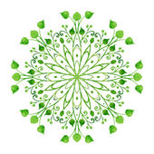 Ornamental green round lace — Stock Vector