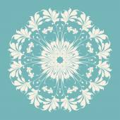 Ornamental round lace — Stock Vector