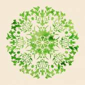 Circle ornament round lace. — Stock Vector