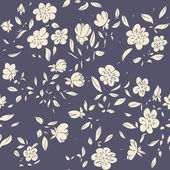Pattern with floral elements. — Stock Vector