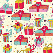 Holiday presents background — Vettoriale Stock