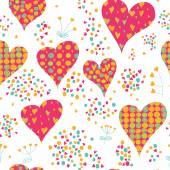 Pattern with hearts and circles — Stock Vector