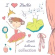 Ballerina and accessories — Stock Vector #67093365