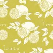 Lemon seamless — Stock Vector
