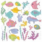 Cartoon sea fish — Stock Vector