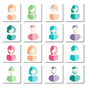 Abstract avatars — Stock Vector
